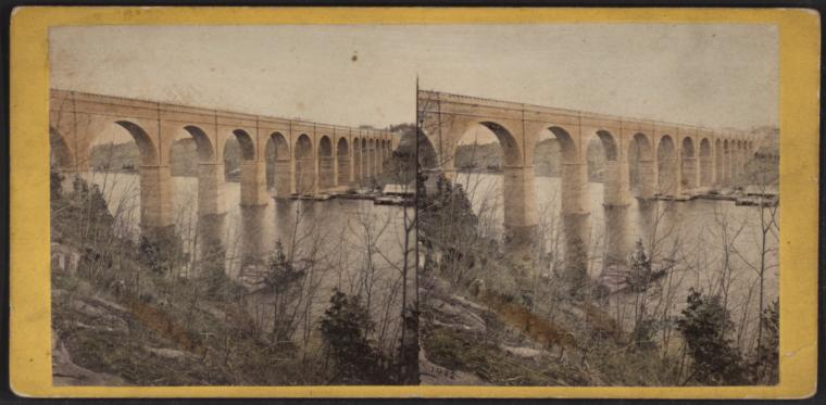 [View of High Bridge.]