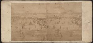 Crowd leaving the ground after the Regatta, July 4th, 1859.