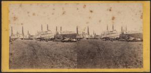 Group of steamboats lying at Simonson's ship yard, foot of 12th street.