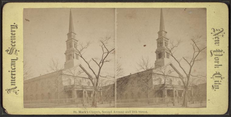 St. Mark's Church. Second Avenue and 10th Street.