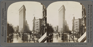 """Flat Iron"" Building, Fifth Avenue and Broadway, New York, N.Y., U.S.A."
