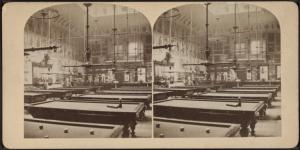 [Fashionable billiard hall, N.Y.]