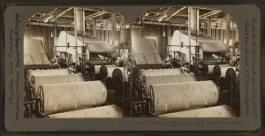 Slashing or Starching the Warp, Dallas Cotton Mills, Dallas, Texas, U.S.A..