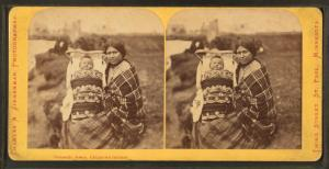 Domestic scene, Chippewa Indians.