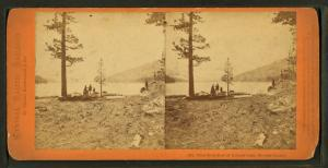 View from foot of Donner Lake, Nevada County.