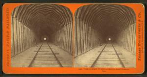 The Summit Tunnel, 1,200 feet long, Livermore Pass.