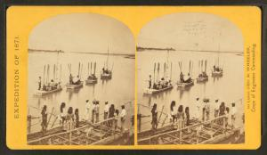The start from Camp Mojave, Arizona, September 15th, 1871.