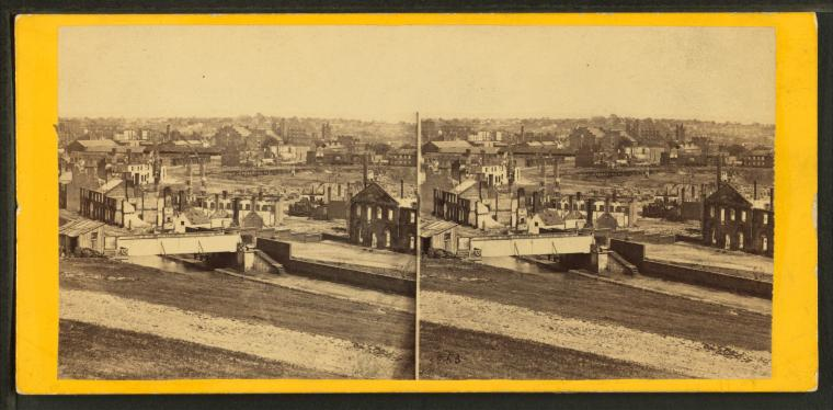 Panoramic view of Richmond, Va., from Gamble Hill, looking east....