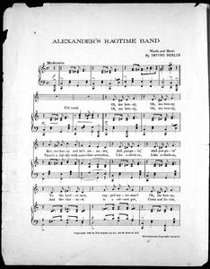 Alexander's ragtime band / words and music by Irving Berlin.