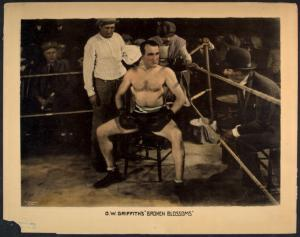 [The child's father as a boxer.]