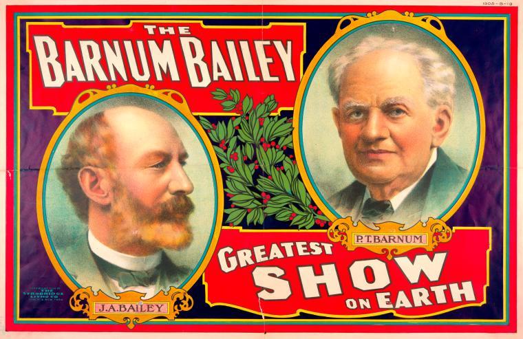 The Barnum Bailey greatest show on earth circus poster