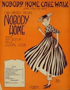Nobody home cake walk : one step or trot / [music] by Otto Motzan.