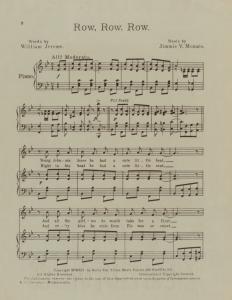 Row, row, row / words by William Jerome ; music by Jimmie V. Monaco.