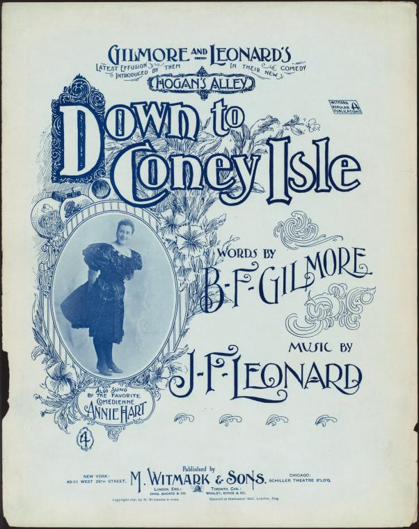 Down to Coney Isle : song and chorus / [words and music] by Gilmore & Leonard.