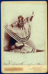 Wilson Cau.[?] & Madge Davenport / photograph by Harrison & Coover.