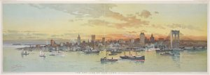 The Sky Line of New York / by Chas. Graham ; copyright, 1896, by W. R. Hearst, New York ; supplement to the Journal, N.Y. May 3d, 1896 ;  G. H. Buek & Co. N.Y. Lith. ; C. Graham.