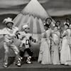 """Bill """"Bojangles"""" Robinson, Freddie Robinson, Rosetta LeNoire, Gwendolyn Reyde, and Frances Brook in the stage production The Hot Mikado."""