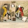 Garrick and Hogarth, or the Artist puzzled.