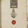 Inside front cover bookplates of Marquess of Crewe and George Arents