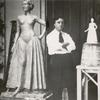 Lachaise with his sculptures of Hildegarde Watson