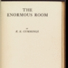 The enormous room [title page]