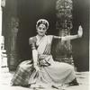 Indrani, executing a dance in the Bharatanatyam style