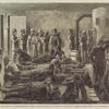 Sanitary Precautions against a Smallpox Edpidemic - An Inspector of the Board of Health Vaccinating Tramps in a Station House