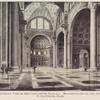 Interior view of the Constantine Basilica...Reconstruction by the Archaeologist G. Gatteschi. Rome.