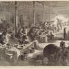 The steel manufactures of Sheffield: the 'hull' or workshop, of the razor-grinder. With the use of the fan.