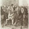 """""""C'étaient de ces figures étranges qui avaient parcouru la Gaule au temps d'Attila et de Chlodowig"""", (opp. p. 34)"""