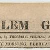The Salem Gazette [masthead].