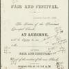 Invitation of Fair and Festival, July 26, 1866.