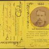 Fred H. Carruth's train pass, 1885.