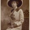 Harriet Stratemeyer in large hat