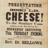 Notice of an address by Rev. Dr. Bellows upon presentation of cheese to the Sanitary Commission.