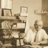 Samuel T. Clover at his desk in Los Angeles