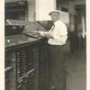 Hayden Carruth at the printing plant of the Woman's Home Companion in Springfield, Ohio: 1923