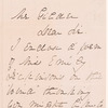 Handwritten letter from Susan H. Gilbert to Watson Gilder, Dec. 31, 1886