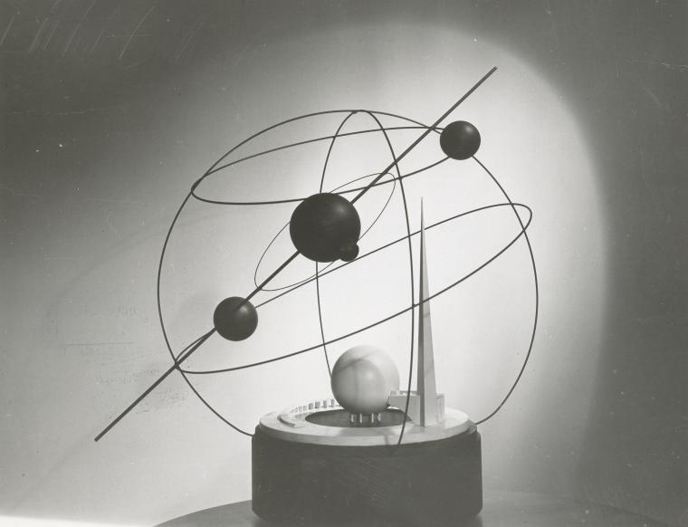 Trylon and Perisphere. Model.