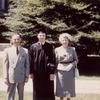 Yale Graduation. Martin Duberman with parents, 1952