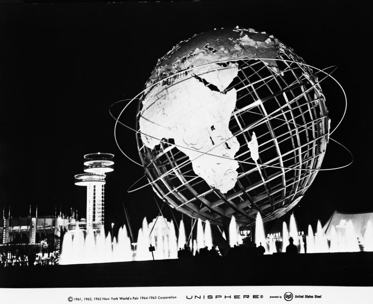 Unisphere at night.