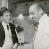 Medium shot of Sy Oliver and Frank Sinatra