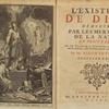 L'existence de Dieu, ... [Frontispiece and title page]