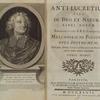 Anti-Lucretius, sive, De Deo et natura, ... [Frontispiece & title page]