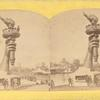"""Collossal hand and torch. Bartholdi's statue of """"Liberty."""""""