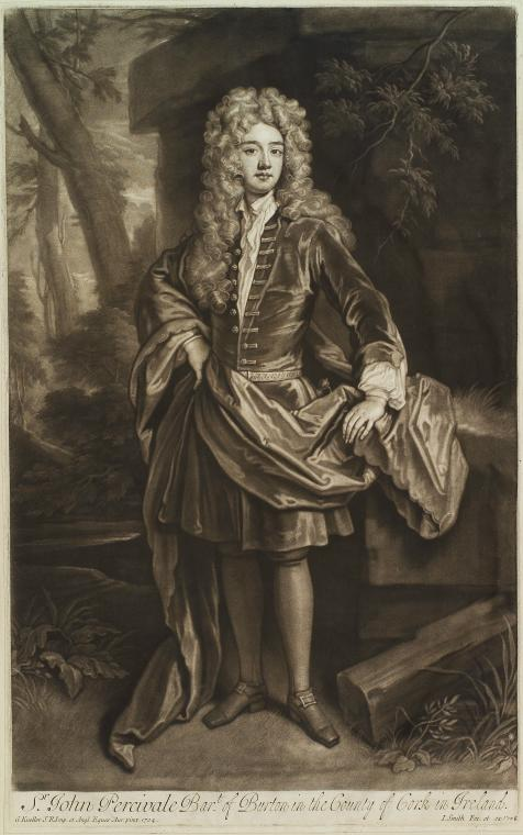 This is What John Smith and Sir John Percivale Bart. of Burton in the county of Cork in Ireland Looked Like  in 1708