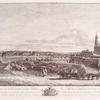Perspective de la ville neuve, et du Palais de S.M. dit d'holland es des environs de la campagne de Losehúwitz, avec une partie de la Roïate Eglise Catolique, et des bastions de la ville de Dresde, prise del prairie Toignant au Eeuries Roïales et à L'oranerie. Ce tableu fait par ordre de sa majeste Le Roy de Pologne et Elec: de Sax. & & &./ peinte, dessiné et grave per Ber. Bellotto dit Canaletto.