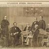 Splendid steel engravings. . . . First reading of the Emancipation Proclamation by President Lincoln in the presence of all the members of his cabinet