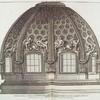 Speccato della cvppola della Chiesa di S. Andrea del Noviziato de Padri Giesviti svl' Monte Qvirinale. Architettvra del Cavalier Bernini.