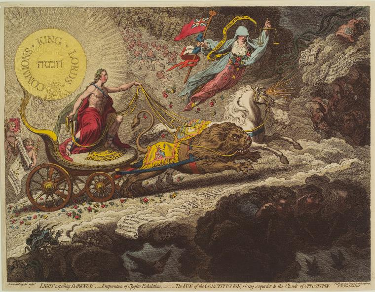 Fascinating Historical Picture of James Gillray on 4/30/1795